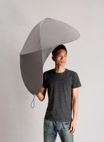 <p>The Rain Shield is like an umbrella in 3-D.</p>