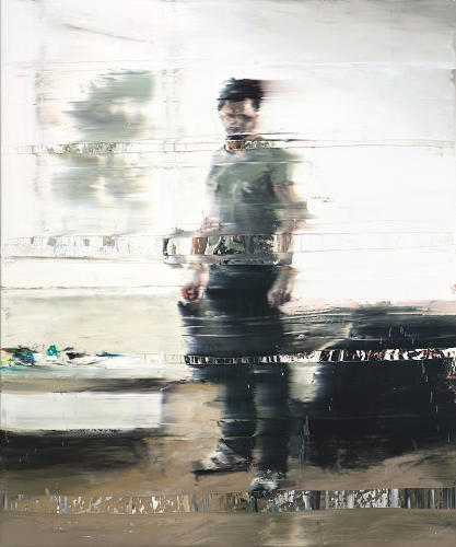 <p>His recent work is somewhat of a departure from the paintings that made him famous. Rather than depicting recognizable scenes from videos, he paints portraits that are run through a similar freeze-frame effect.</p>