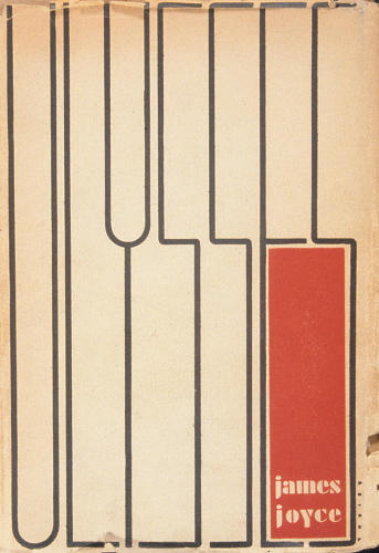 <p><em>Ulysses</em> (1934), hand-lettered and designed by Ernst Reichl, was said to be influenced by the paintings of Piet Mondrian.</p>