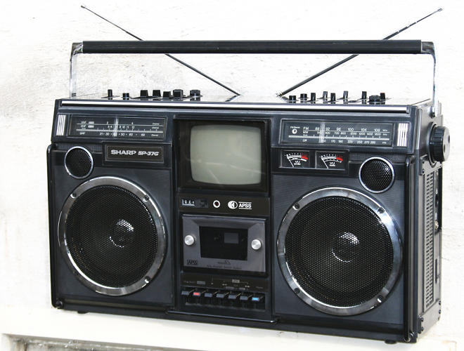 <p>From Roberts's list comes a boom box, representative of the New York City depicted in <em>Do the Right Thing</em>.</p>