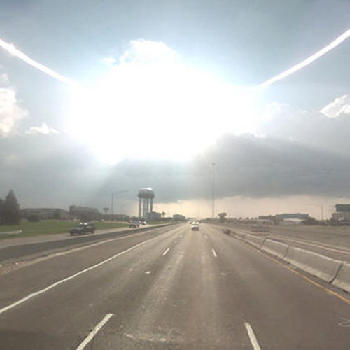 <p>Matthew Jensen's composite of a drive through every state, <em>The 49 States</em>, 2008–9.</p>
