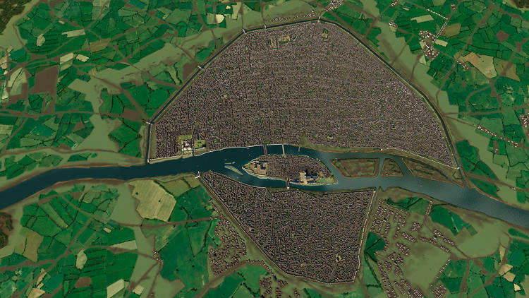 <p>A bird's-eye view of Paris is part of a scientific 3-D program to accurately share Paris' historical periods in an interactive way.</p>