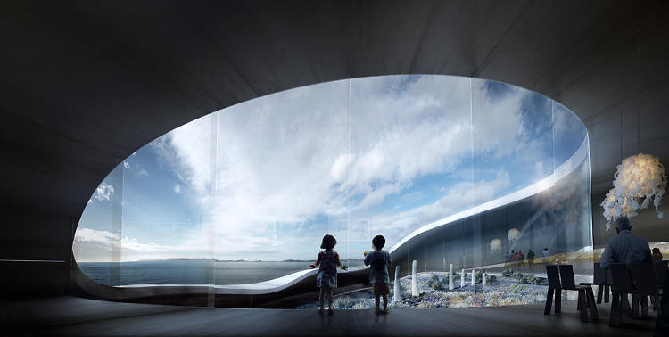 <p>BIG's design for the National Gallery is reminiscent of the Guggenheim's interior ramps, but its water view reminds visitors that they're in Greenland, not on Fifth Avenue!</p>