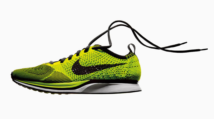 <p>It took Nike four years of &quot;micro-engineering&quot; to invent a <a href=&quot;http://www.fastcodesign.com/1669098/nike-unveils-its-big-new-paradigm-shoes-knit-like-socks&quot; target=&quot;_self&quot;>process for knitting this shoe</a>, available as both runners and trainers for <a href=&quot;http://store.nike.com/us/en_us/?l=shop,pwp,c-1+100701/hf-4294888354&amp;cp=USNS_KW_0611081618&amp;ef_id=UJQYYwAAHdTMagV5:20121119134026:s&quot; target=&quot;_blank&quot;>$150</a>. The sustainable benefit: It's 19% lighter than similar, nonknit models and uses far less material since making the uppers leaves no off-cuts.</p>