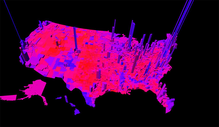<p>Vanderbei, a professor of operations research and financial engineering, made his first &quot;Purple Area&quot; visualization after the 2000 election.</p>