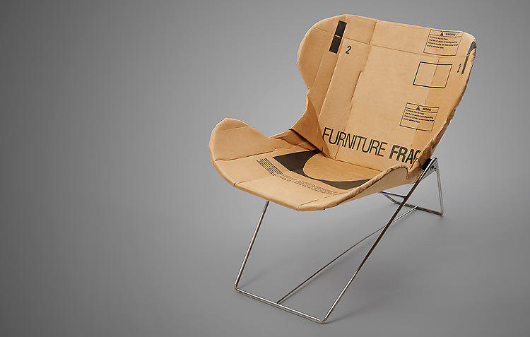 <p>The next best thing to never buying another chair--buying one that's got a seat made entirely from recycled cardboard. Plus, the form holds up to design scrutiny: For the metal base, the <a href=&quot;http://www.fastcodesign.com/1671159/kickstarting-a-durable-stylish-chair-made-of-cardboard&quot; target=&quot;_self&quot;>Kickstarting designer Dan Goldstein</a> pulled inspiration from none other than Ray and Charles Eames. Pre-order a Re-Ply chair <a href=&quot;http://www.kickstarter.com/projects/1146058256/the-re-ply-chair&quot; target=&quot;_blank&quot;>here</a>.</p>