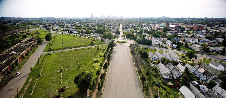 <p>A panoramic view of East Buffalo.</p>