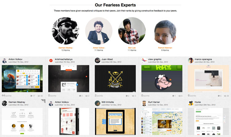 <p>Hunie is a social network for designers seeking criticism.</p>