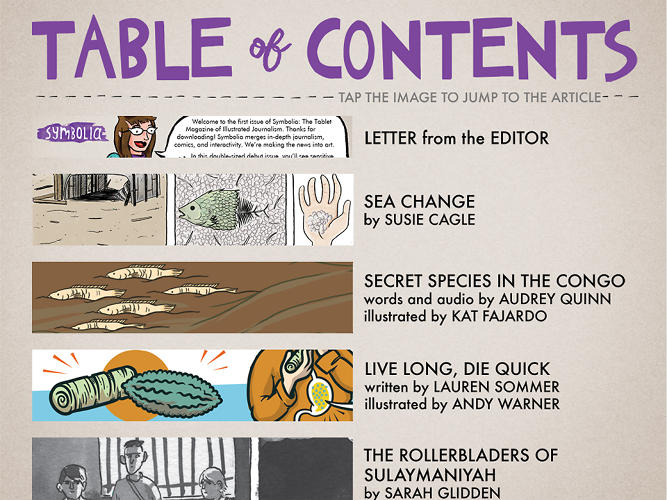 <p>The idea is to put out six issues a year, each with stories from a variety of illustrators.</p>