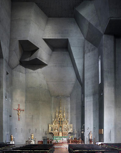 <p><em>Corpus Christi</em>, a photo essay by Fabrice Fouillet, captures masterpieces of modern religious architecture like Gottfried Böhn's St Ludwig in Saarelouis, Germany, completed in 1970.</p>