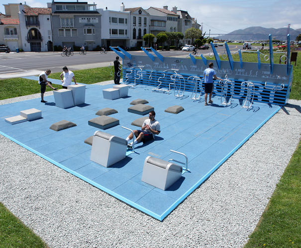 <p>But the most innovative aspect may be its business model: The gym is free to bring into a community. Corporations subsidize the cost.</p>