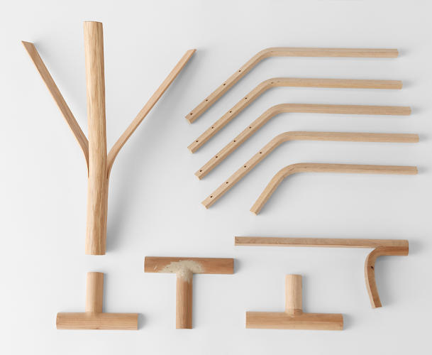 "<p>""We splintered each piece of wood as though peeling it away,"" explains Nendo.</p>"