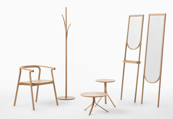<p>A new collection from Japanese design studio Nendo is made from wood that's been splintered to create functional design elements.</p>