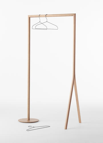 <p>A clothing rack illustrates the effect particularly well, with a wide diameter piece splitting into two structural legs.</p>