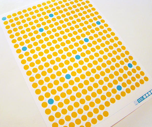 <p>The calendar isn't specific to any year--just 365 yellow dots to be filled in--so you can start your feeling-charting endeavor on any day.</p>