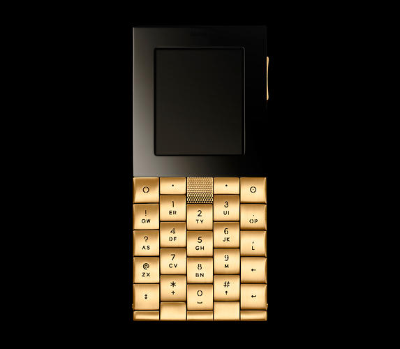 <p>Its first handset, the Yves Béhar-designed AE+Y, took several more years to build than anticipated. The final price-tag: $10,000. This gilded version went for nearly $60,000.</p>