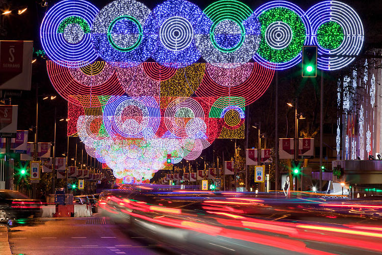 Giving Madrid A Makeover, With Op-Art Christmas Lights ...