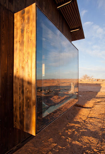 <p>The windows are made from recycled glass.</p>