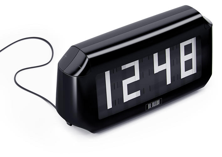 <p>Moscow-based Art. Lebedev Studio designed this prototype Lentus clock with scrolling tape that forms the shifting digits.</p>