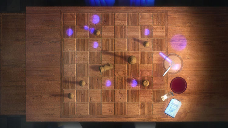 <p>The object-collecting that does occur leads up to this mysterious game of chess, which you can play against a simulation, or, if available, another player.</p>