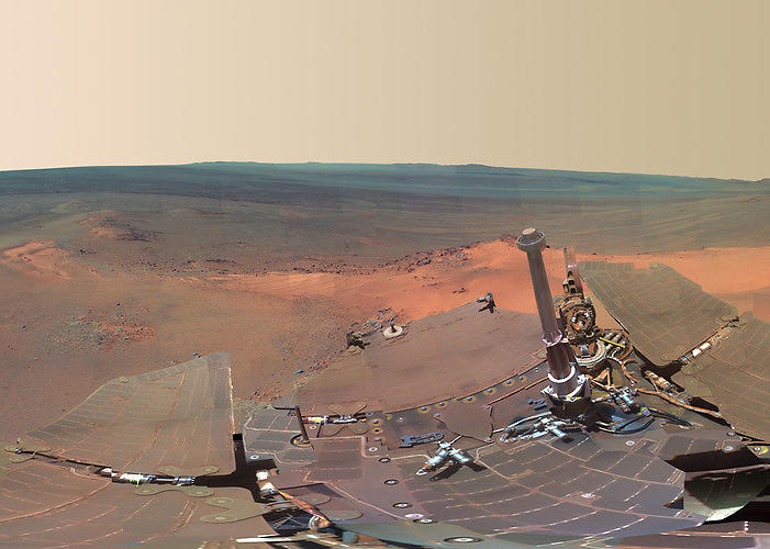 <p>In July, NASA released <a href=&quot;http://www.fastcodesign.com/1670246/check-out-nasas-amazing-new-panoramic-photo-of-mars#1&quot; target=&quot;_self&quot;>this panoramic view of Mars</a>, replete with rover tracks and a 14-mile-wide crater where scientists found evidence of ancient water.</p>