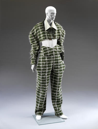<p>The show will focus on club-kid fashion, including works from young designers who found their voices in the milieu--like John Galliano, who designed this Fallen Angel suit in 1985.</p>