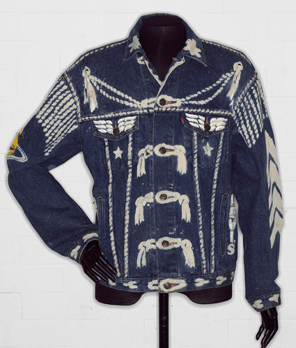 <p>In 1986, a group of London designers were invited to personalize classic Levi's jean jackets, the results of which were auctioned off. The exhibit will bring together the full collection for the first time. Here, Vivienne Westwood's contribution.</p>