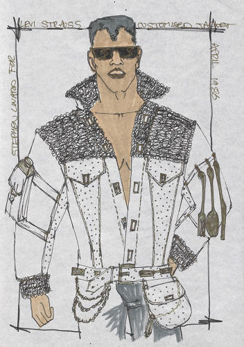 <p>A concept sketch for one of the jackets by Stephen Linnard.</p>