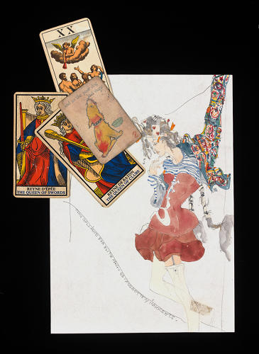 <p>John Galliano's sketches for the project. Since only one of each jacket exists, the V&amp;A is still attempting to locate all of the contributions.</p>