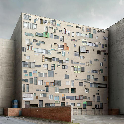 <p>Dujardin is the subject of a solo show next month in San Francisco, exhibiting works like this, a wall of windows that are each unique.</p>