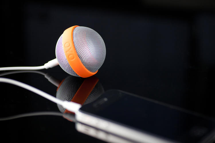 <p>Without the sharp angles of a standard speaker, this portable piece feels suitably on-the-go for a smartphone accessory.</p>