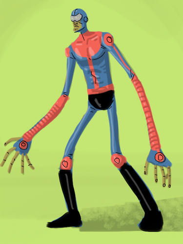 <p>By day, Everett Downing works as an animator at Pixar. In his off time, he invents superheroes.</p>