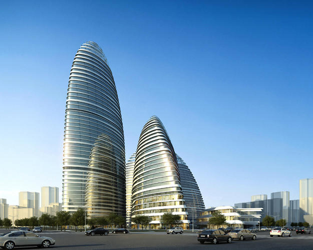 <p>Wangjing Soho, a shopping complex by Zaha Hadid, is at the center of a plagiarism scandal involving a very similar complex in Chongqing.</p>