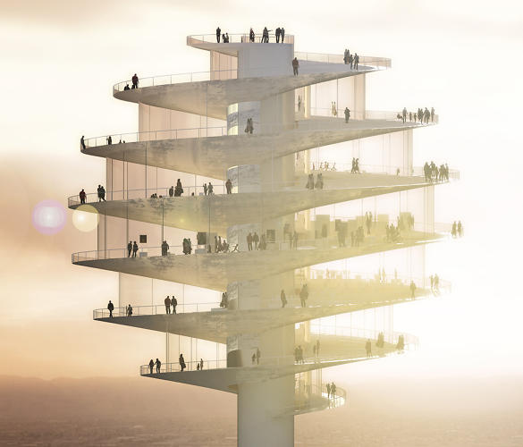 <p>The Phoenix Observation Tower, designed by BIG, would tower over the downtown at 420 feet tall.</p>