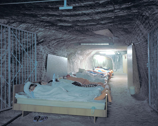 <p><em>Speleotherapy: Breathing In</em>, by photographer Kirill Kuletski, shows the Solotvyno salt mine in the Ukraine, and visitors who sleep in the mines to reap their respiratory benefits.</p>