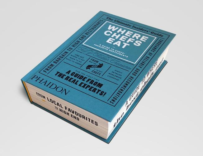 <p>A new book called <em>Where Chefs Eat </em>borrows its aesthetic from commercial printing from the 1950s and '60s.</p>
