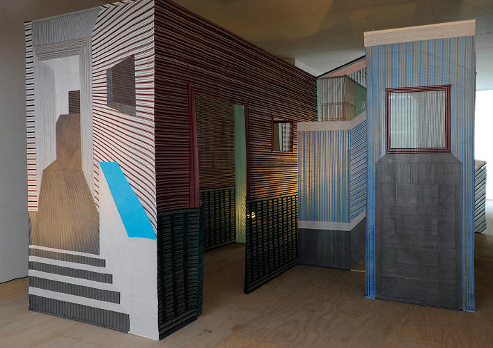 <p>Wies Preijde's thread screens offer an interesting way to divide up a space.</p>