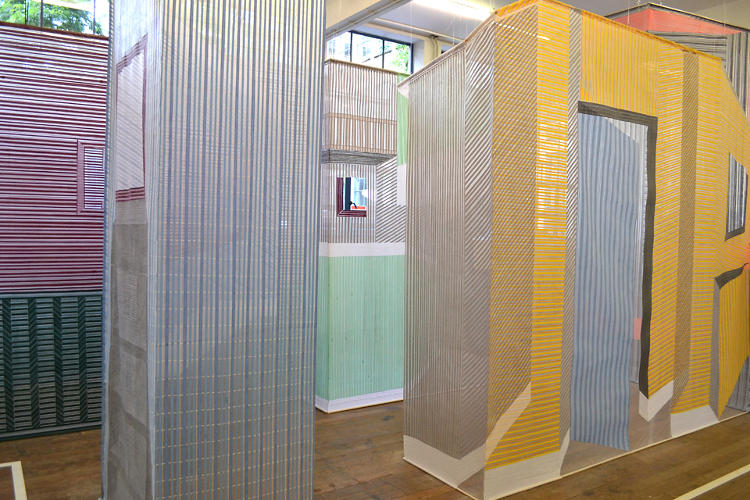 <p>Preijde is a recent graduate of the Textile Design Department of the Royal Academy of Arts, in the Hague. She debuted her hand-woven partitions at the school's degree show in 2011.</p>