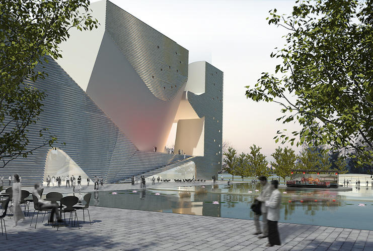 <p>Steven Holl unveiled plans for a pair of museums in Tianjin Ecocity, a train ride away from Beijing.</p>