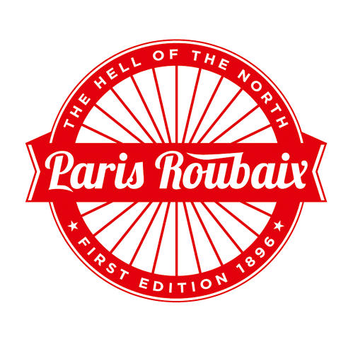 <p>For the one-day professional bike race in northern France, Jeremy Pruitt devised an emblem that evokes wheel spokes.</p>