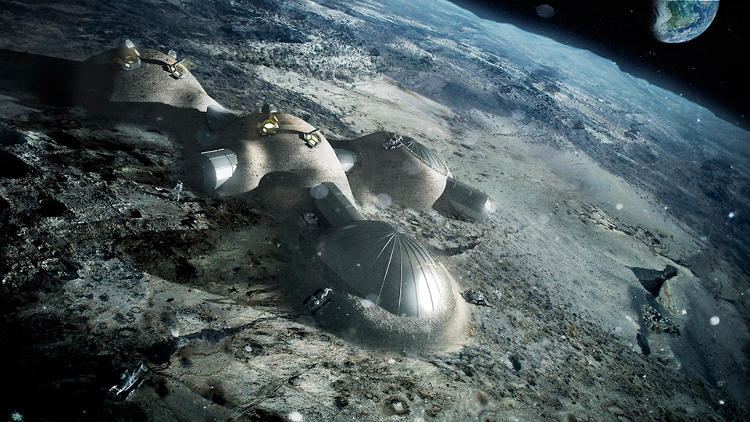 <p>A moon habitat designed by Foster + Partners is part of a recently published ESA study on 3-D printed lunar structures.</p>