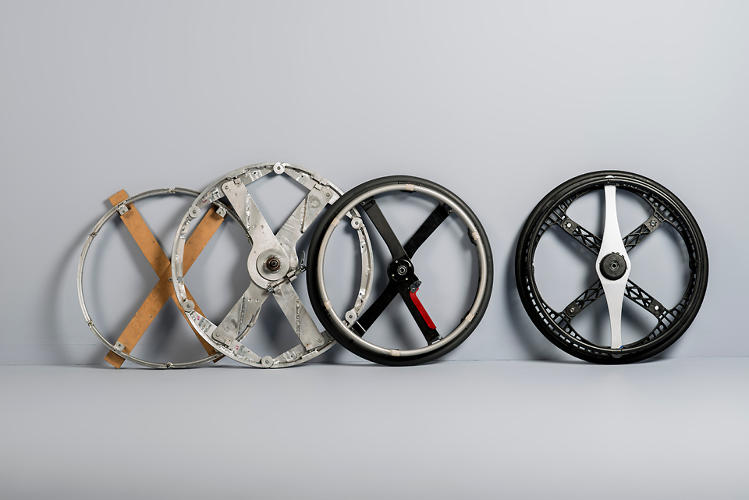 <p>Now, the wheelchair version of the wheel is in production, while the bike version has only been built in limited batches.</p>