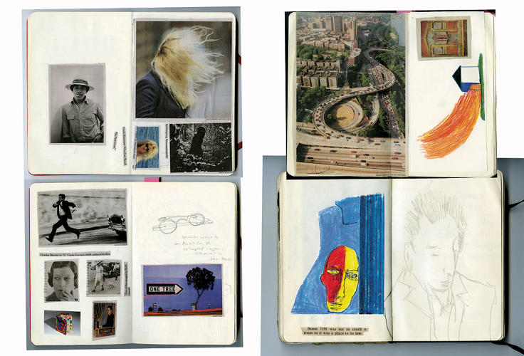 <p>Some artists offered unguarded views right into their sketchbooks.</p>