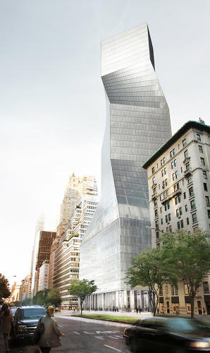 <p>The proposal--seen here from the north--was ultimately passed over for a plan by Foster + Partners.</p>