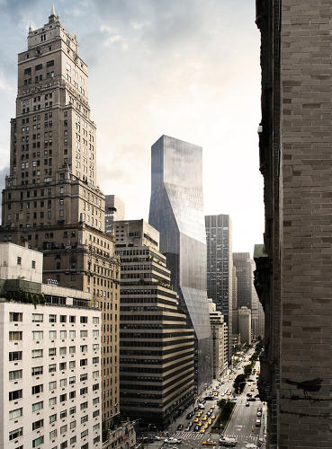 <p>OMA's proposal for a tower at 425 Park Avenue imagined a torqued, 41-story tower in Midtown East.</p>