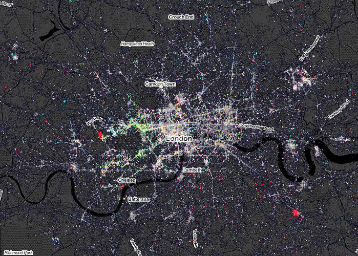 <p>But the most immediately striking thing in comparison is how very few other languages you see across London's broad expanse.</p>