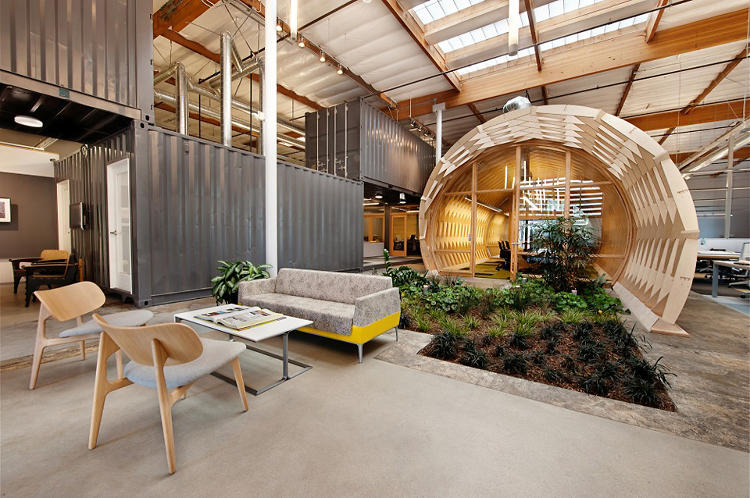 <p>The Cuningham Group, an architecture firm, recently built a new office in Culver City, California. It's greenest feature? A garden, planted smack dab in the middle of the workspace.</p>