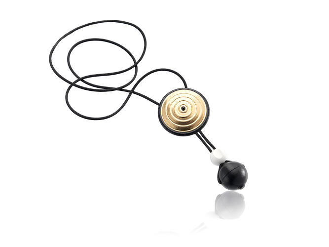 <p>Distinctly claiming the status of jewelry, this necklace interface ensures permanent access to the remote. Each element of the necklace corresponds to a specific function.</p>