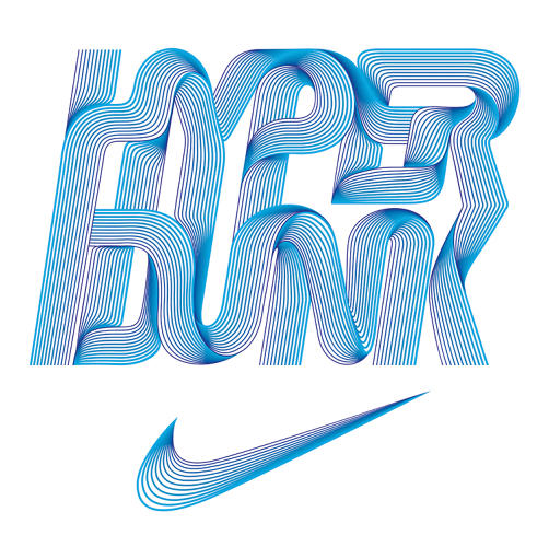 <p>Trochut also created this type treatment for a limited-edition T-shirt for Nike's Hyperdunk label.</p>