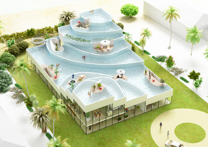 <p>Here's SAWA House, inspired by rice terraces in Bali.</p>